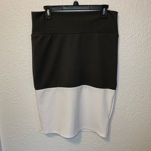 LuLaRoe Two Toned Cassie Pencil Skirt